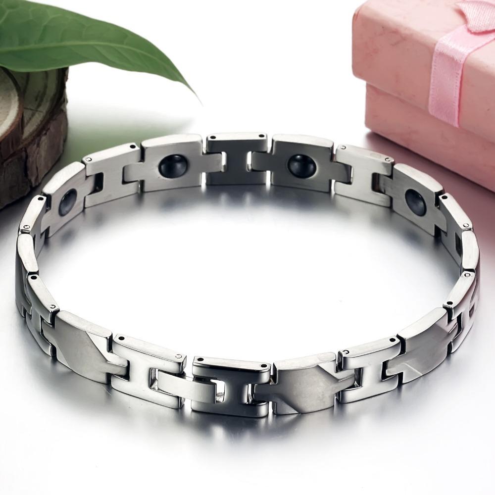 Hot Fashion Women Jewelry Accessories Health Magnetic 316L Stainless Steel Men Bracelets Best Friends Friendship Bracelet - Fully Trusty store