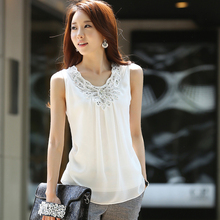 2016 New Summer Style Fashion Women Vest Casual Sleeveless O-Neck Lace Floral Tank Tops Slim Fitness Plus Size,4xl,5xl,6xl(China (Mainland))