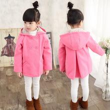 Buy Autumn Winter Children Girls Jacket Coat Hooded Thick Girls Woolen Coat 3-11 Years Kids Outerwear Jacket Teenage Girls for $23.90 in AliExpress store