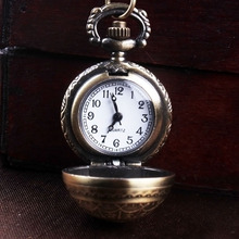 Buy 1pc Retro antique Steampunk pocket fob watch classic bronze circular quartz clock hour sweater necklace chain pendant gift H4 for $2.93 in AliExpress store