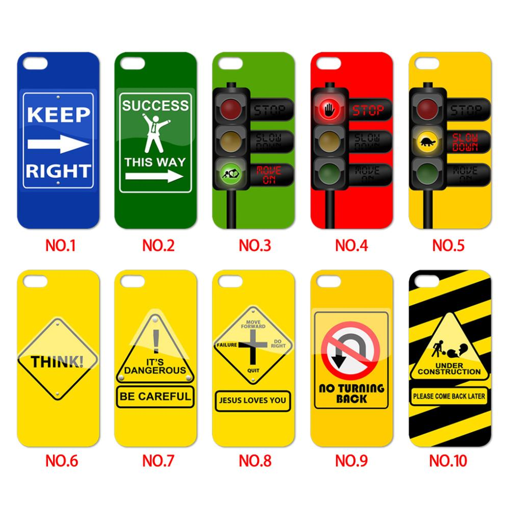 Hot sale support wholesales Traffic Signs printed plastic Skin Cover cases for iphone 4 4s 5 5s case(China (Mainland))