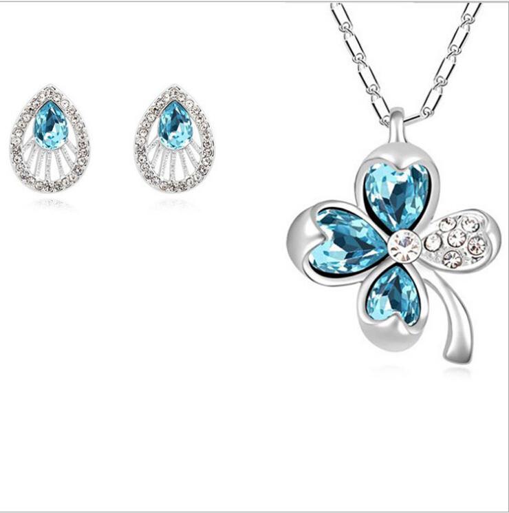 South korea fashion jewelry suit high end austrian for High end fashion jewelry