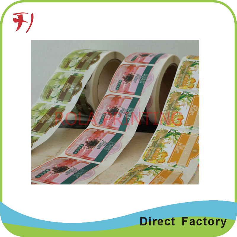 Customized Hot sale cheap printed labels, colorful bottle labels for honey(China (Mainland))