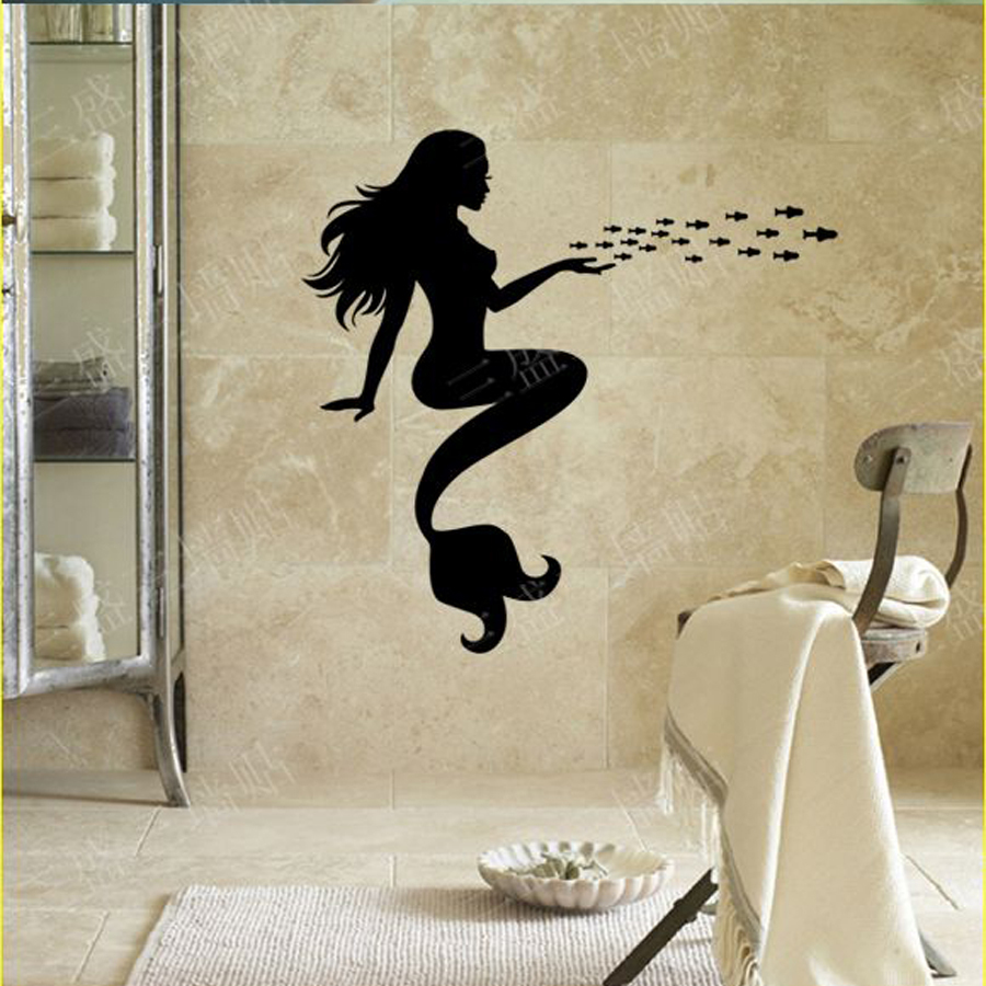Inexpensive Bathroom Wall Decor : Get cheap mermaid bathroom decor aliexpress