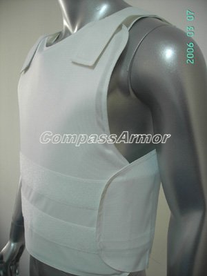 Extra Large Size White color Concealable bulletproof vest with NIJ IIIA level with free shipping cost(China (Mainland))