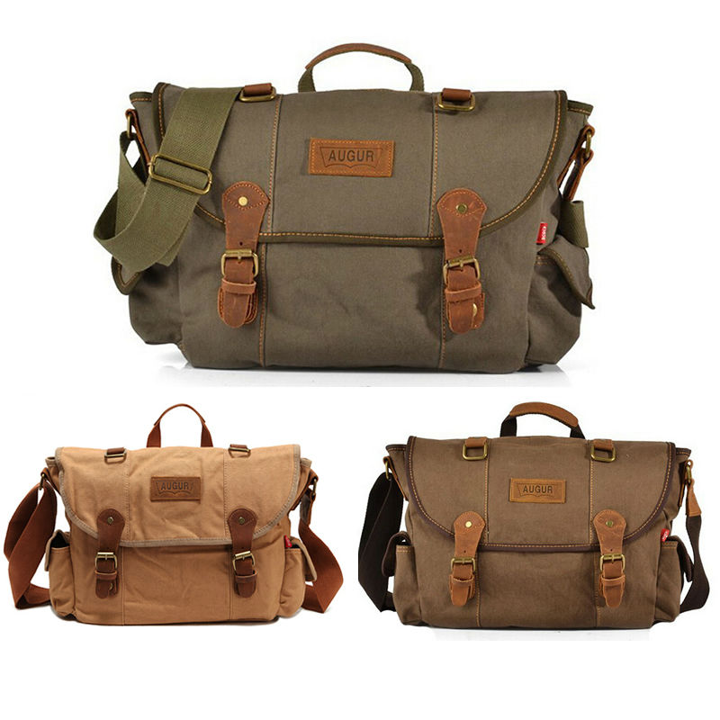 New Men Messenger Bags Canvas Vintage Luxury Handbag Crossbody Bags for Man Laptop Package Small Satchel Khaki/Army Green/Coffe(China (Mainland))