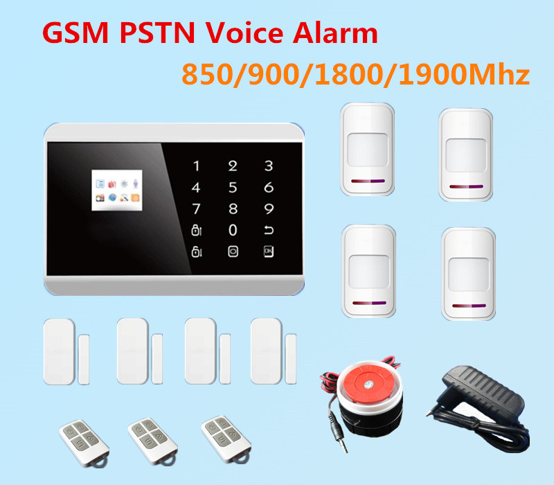 Quad Band Touch Keypad TFT Dislay Wireless GSM PSTN SMS Home Security Voice Burglar Alarm Remote control A619 - Shenzhen Egomall Technology Co.,LTD store
