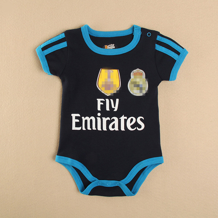 Kids/Bebes Summer Soccer/Football Jersey Kits Rompers Newborn cotton Clothes/Zapatillas/Barboteuse/Costume For Baby Boy/Girl(China (Mainland))