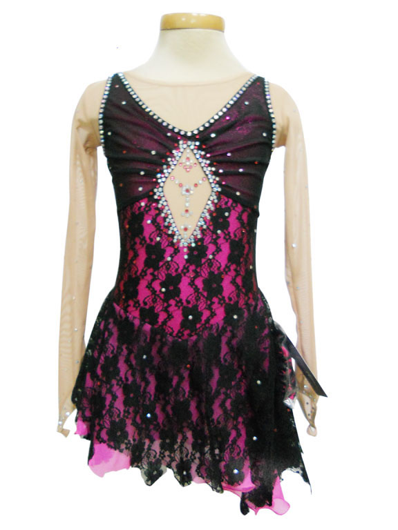 2015 Competition Figure Ice Skating Dresses For Women With Spandex Graceful New Brand Figure Skating Competition Dress DR2584Одежда и ак�е��уары<br><br><br>Aliexpress
