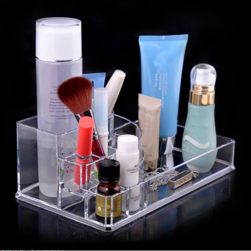 2015 New Clear Makeup Toiletry Kits for Storage  Jewelry Cosmetic <br><br>Aliexpress