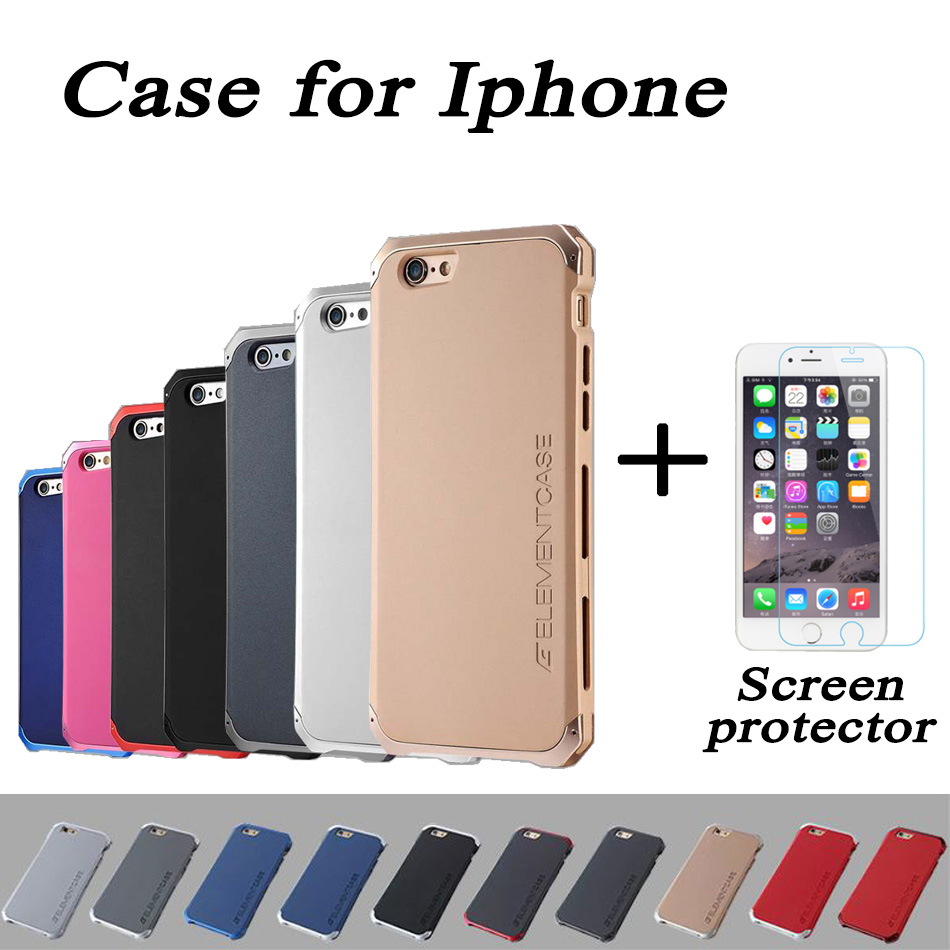 Free Shipping ELEMENT Aluminum Metal Frame Back Cover Matte Frosted Aluminum Metal Case For iPhone 6 6s plus 5.5 inch with Gift(China (Mainland))
