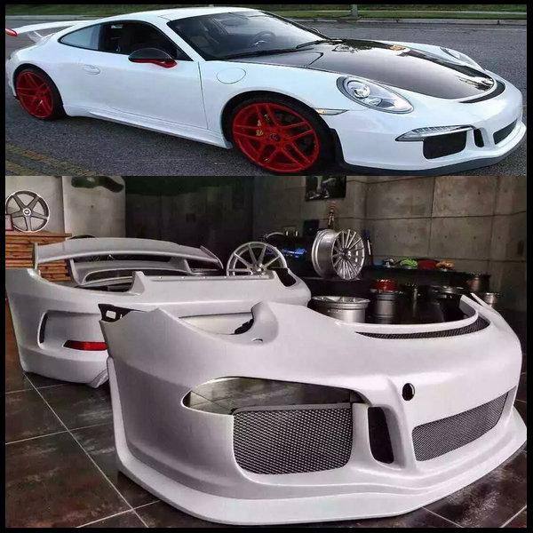 gt3 frp style auto body kits car bodykits for porsche carrera 911 991 auto front bumper car. Black Bedroom Furniture Sets. Home Design Ideas