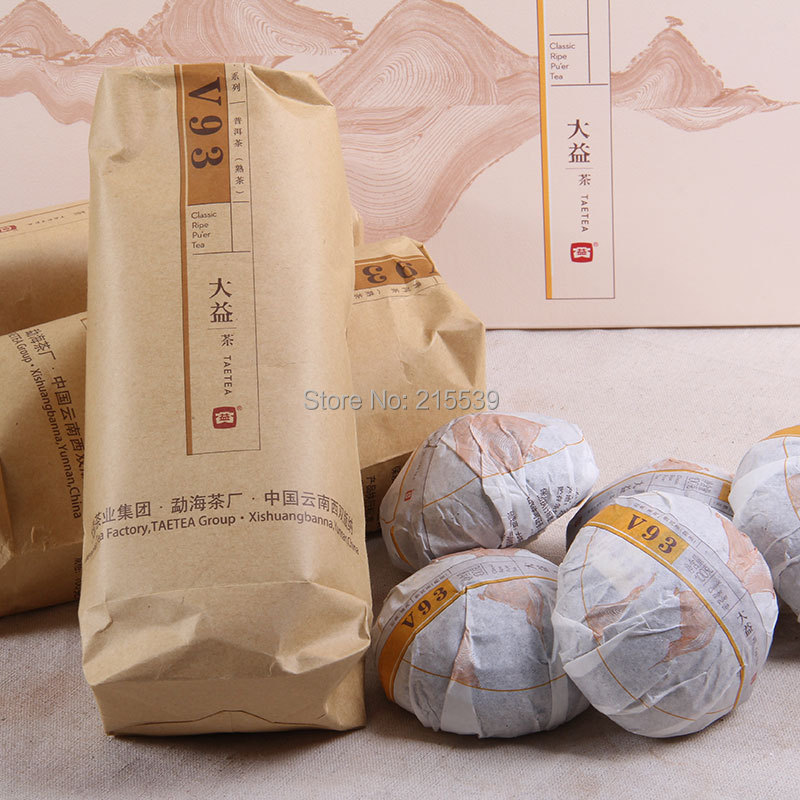 [GRANDNESS] V93 tea 2015 Yunnan ORIGINAL V93 MengHai Dayi V93 TAETEA Premium Ripe Shu Pu Er Puer Pu Erh Tuocha Tuo Tea 500g(China (Mainland))