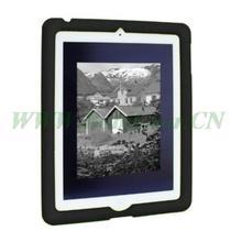 For iPad4 Ipad 3 Ipad 2 tablet-Bobj  Desiged protective for Ipad silicone rugged protective cover-Bold Black