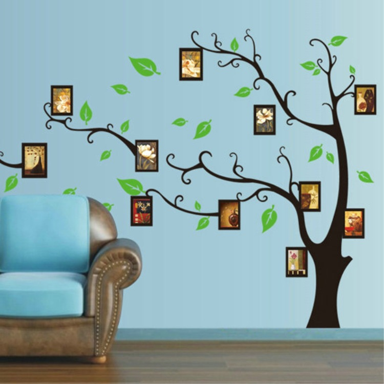 buy black photo tree wall sticker photo. Black Bedroom Furniture Sets. Home Design Ideas