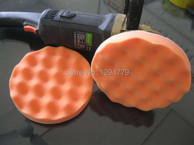 "6pcs 5"" Diameter Car wave Waxing Sponge Buffing Pad Car Polishing Waxing Buffing wheel Polisher Tool(China (Mainland))"