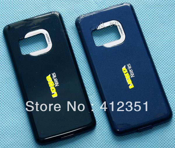 Black/White/Blue New Original Housing Back Battery Cover Case Door for Nokia N81, Free Shipping(China (Mainland))