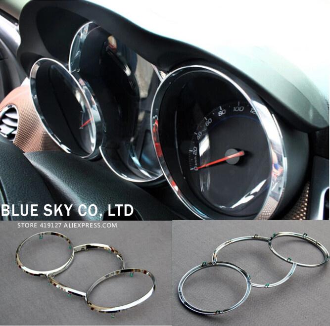 Chrome Interior Decoration Ring Cover For Chevrolet Chevy Cruze Sedan Hatchback 2009-2013(China (Mainland))