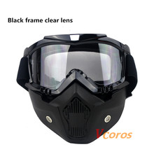 Hot Sales BEON Modular Mask Detachable Goggles And Mouth Filter Perfect for Open Face Motorcycle Half Helmet or Vintage Helmets(China (Mainland))