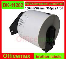 100 x ROLLS 62mm x 100mm DK-11202 DK1202 DK-1202 Labels free shipping