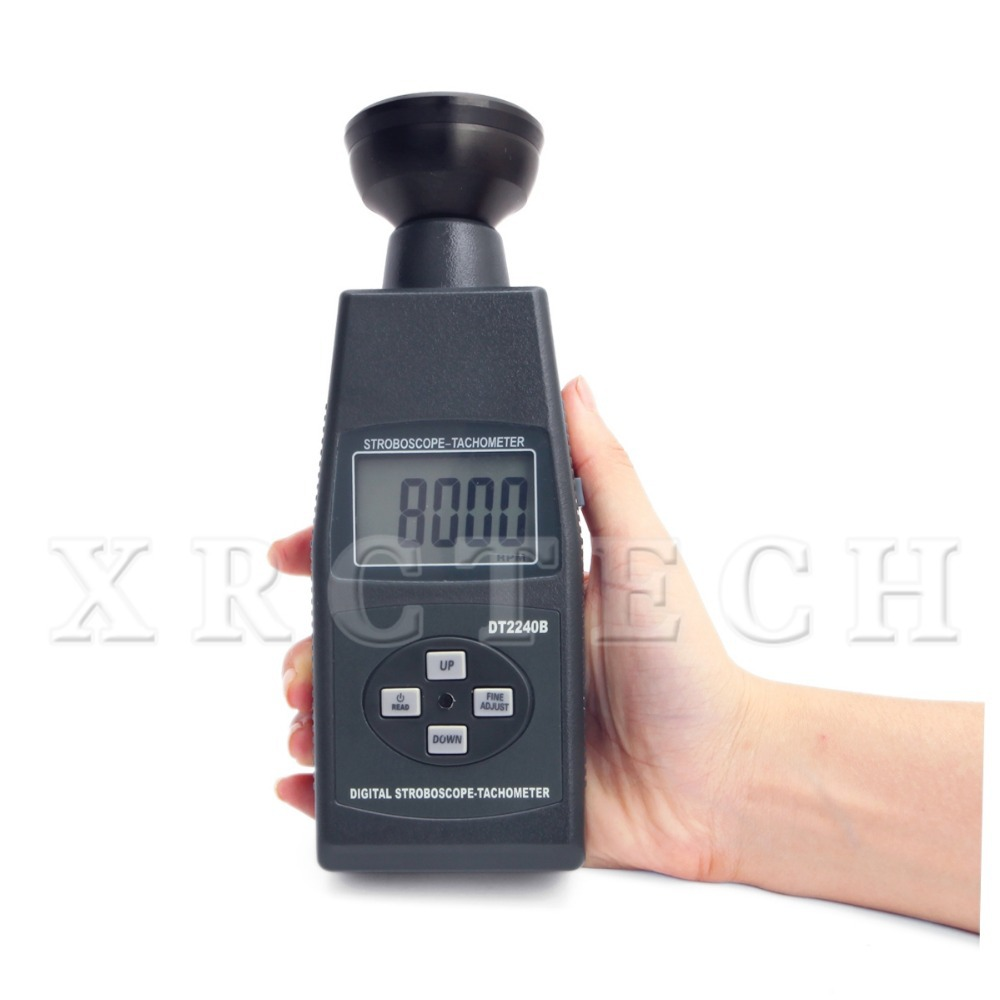 DT2240B Stroboscope Digital control adjust flash frequence and Large LCD display with back light(China (Mainland))