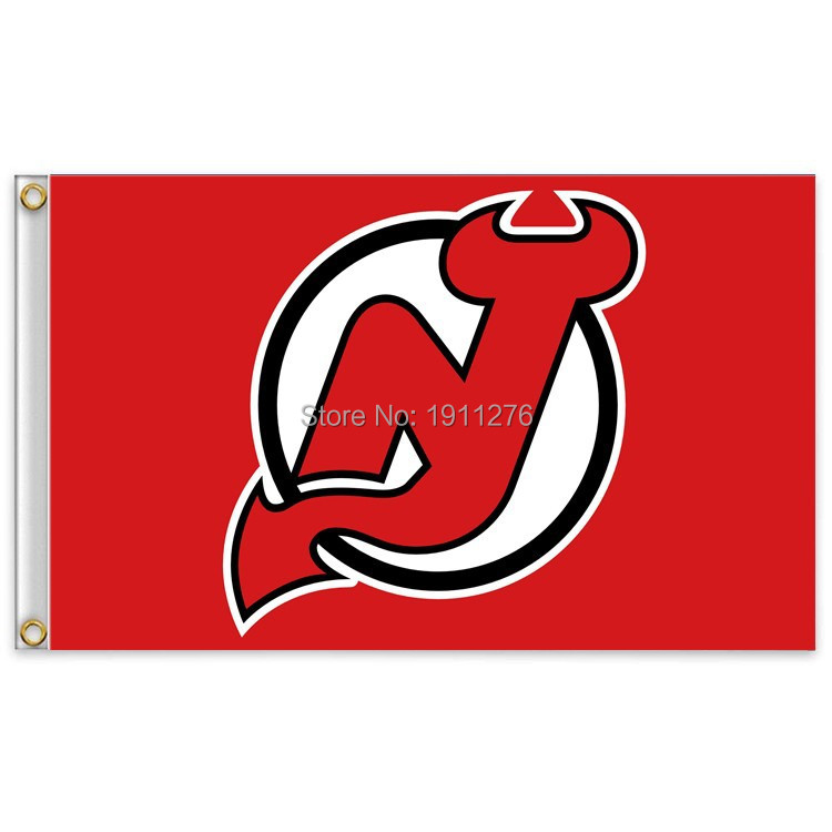 NHL New Jersey Devils Flag 3x5 FT 150X90CM Banner 100D Polyester flag , free shipping(China (Mainland))
