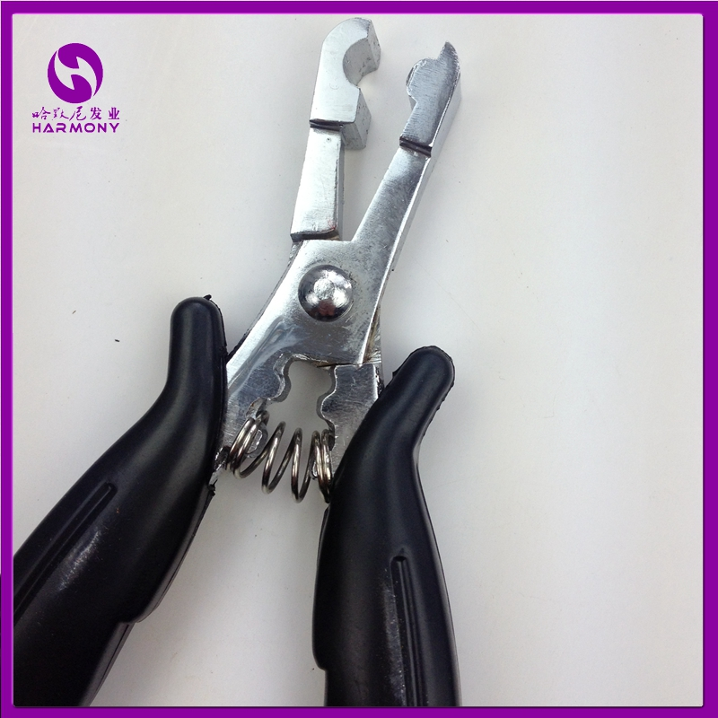 Free shipping 1pc Stainless Steel Rebond Remover Hair Pliers fusion rebonds remover C shape plier