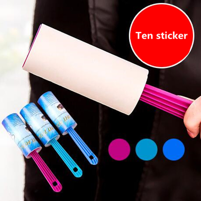 New 10 Sheets Magic Lint Roller Removing Dandruff Lint Pet Hair Dust Clothing free shipping(China (Mainland))