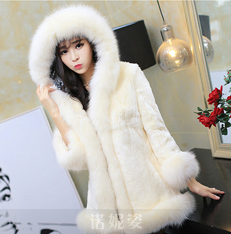 Winter Women Long Slim Fur Jacket Warm Faux Coat Elegant Full Sleeve Female Outerwear 2015 New Fashion Black White ZP823