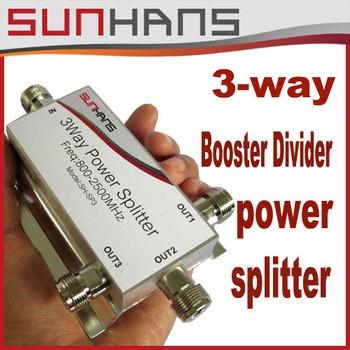 Direct Marketing Sunhans 3-Way 800-2500MHz  Divider Power Splitter