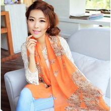 150*40cm 2015 New Fashion Velvet Chiffon Scarf Women Infinity Scarf Hot Sale Casual Scarf Long Cape Scarves Shawl 56 Colors Gift