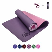TPE Yoga mats fitness Three parts environmental tasteless colchonete fitness yoga gym exercise mats 183 61