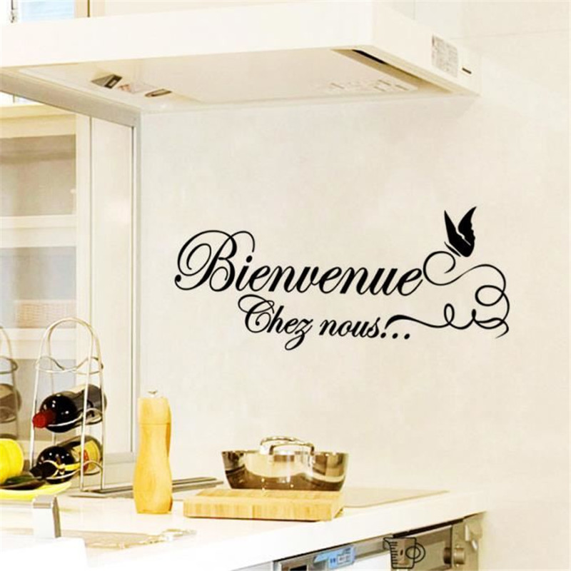stickers uni pour meuble cuisine french fashion quotes promotionshop for promotional. Black Bedroom Furniture Sets. Home Design Ideas