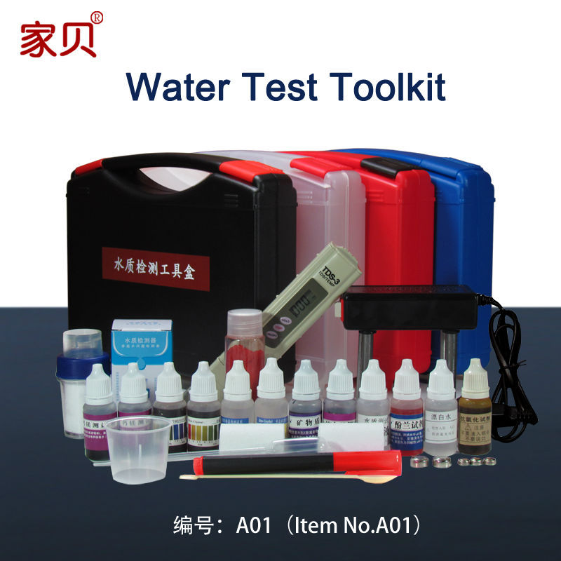 Water quality testing tool kit set water purifier TDS water test pen PH chlorine reagent detection instrument(China (Mainland))