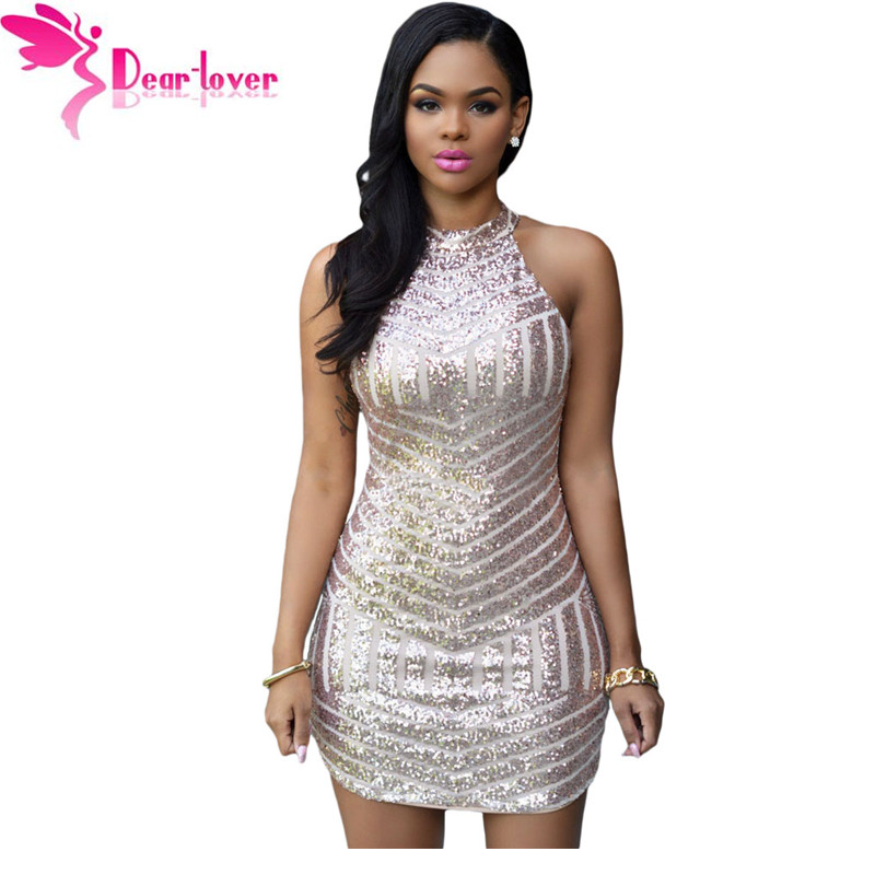 Dear Lover Women Summer Sexy Sparkling Sequin Tank Mini Party Dress grandes lentejuelas vestidos feminino with paillette LC22574(China (Mainland))