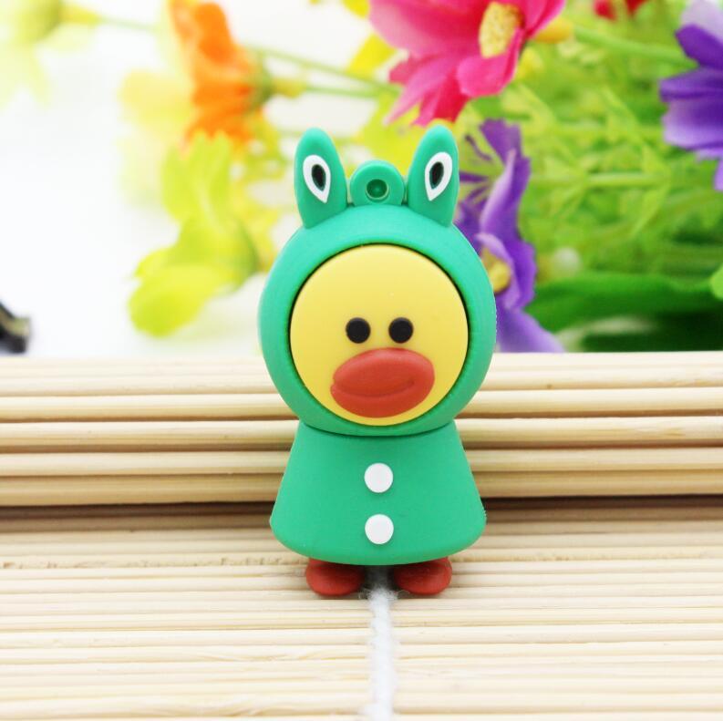 New Cute Cartoon gree baby USB Flash Drive Pen Drive 4GB 8GB 16GB 32GB 64GB USB 2.0 Pen Drive Memory Stick U Disk free shipping(China (Mainland))