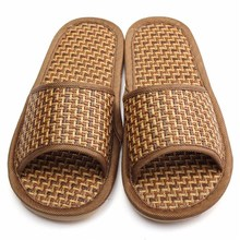 Men Women Shoes Comfort Natural Bamboo Summer Style Flax Lover Slippers Home Indoor Antiskid Woman Rattan Mat Bottom Cool Shoes(China (Mainland))