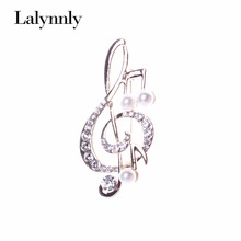 Fashionable Brooches For Women Gold Musical Rhinestone Imitation Pearl Brooch Pin Crystal Jewelry Whloesale Gifts XZ00301(China (Mainland))