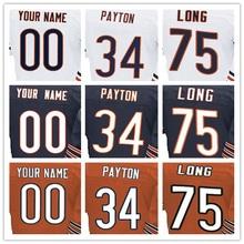 Men's Elite Jersey 100% Stitched #6 Jay #17 Alshon #23 Kyle #34 Walter #75 Kyle Elite Navy Blue Orange White Jersey(China (Mainland))