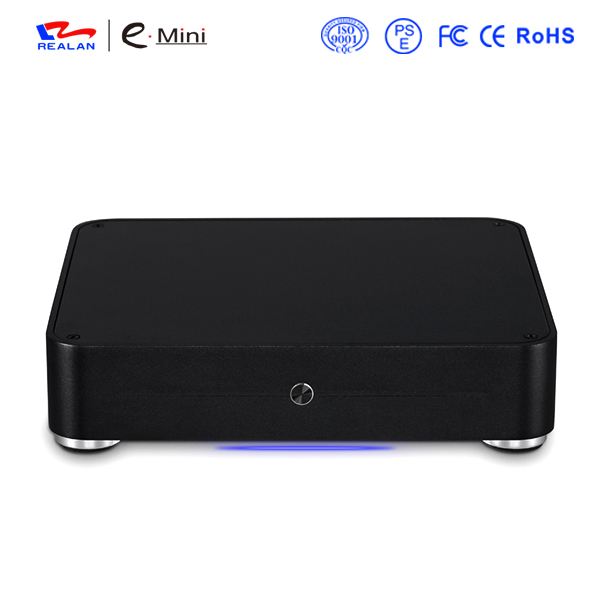 Realan Aluminum Mini ITX Case E-W44 Slim HTPC Desktop Computer Without CPU(China (Mainland))