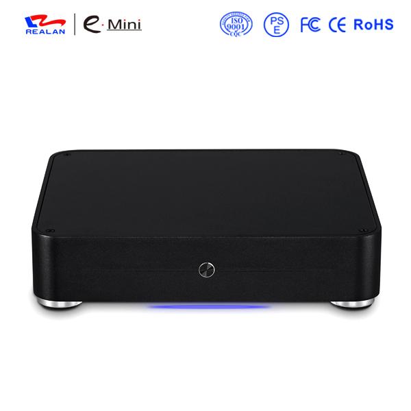 Realan Aluminum Mini ITX Case E-W44 Slim HTPC Desktop Computer Without CPU(China (Mainland))