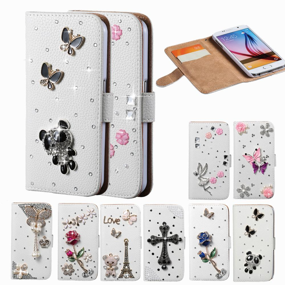 Luxury Cute Panda Butterfly Wallet Stand Crystal Diamond Flip Cover Leather Mobile Case For Iphone 5C With Card Holder Phone Bag(China (Mainland))