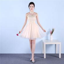 Beauty Emily Cheap Short Bridesmaid Dresses 2017 Thin A-line Knee-Length Off the Shoulder Homecoming Party Prom Dresses(China)