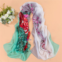 women scarf fashion pashmina  2014 new design long shawl cape Polyester chiffon tippet muffler  Scarves PG-011(China (Mainland))