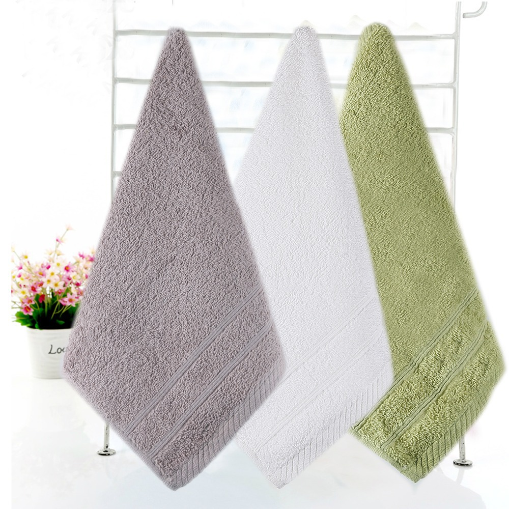 30x30cm 100 pure cotton hand towel wholesale 3pcs lot terry hand cloth washcloth kitchen brand gift