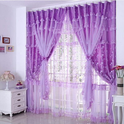 Finished product lace curtain luxury quality luxury rustic piaochuang shalian curtain
