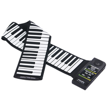 88 Key Electronic Piano Keyboard Silicon Flexible Roll Up Piano with Loud Speaker(China (Mainland))