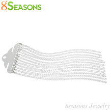 "Buy 8SEASONS 12 silver-color Lobster Clasp Cable Link Chain Necklaces Fashion Necklace 18"", B12716 for $2.47 in AliExpress store"