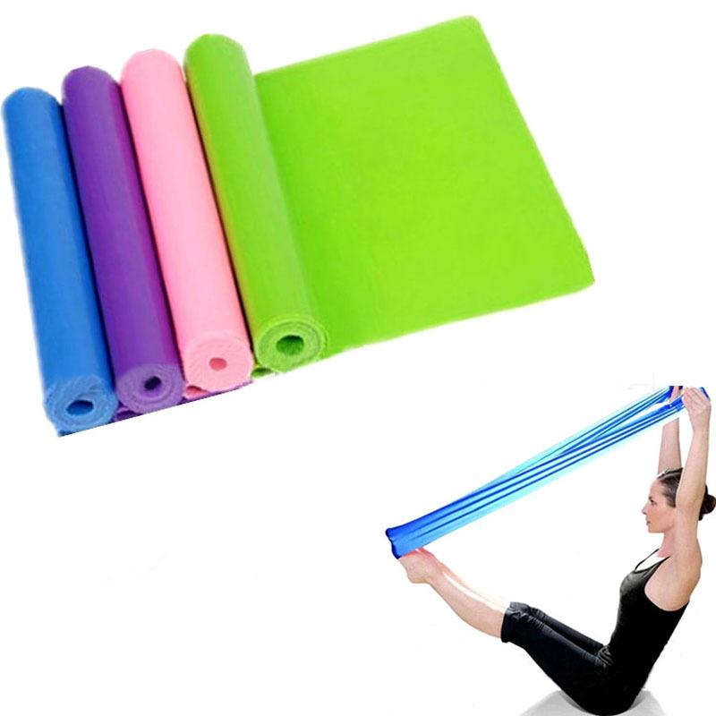 2015 Pilates Yoga Sports Workout Aerobics Stretch Tensile Elastic Band Freeshipping(China (Mainland))