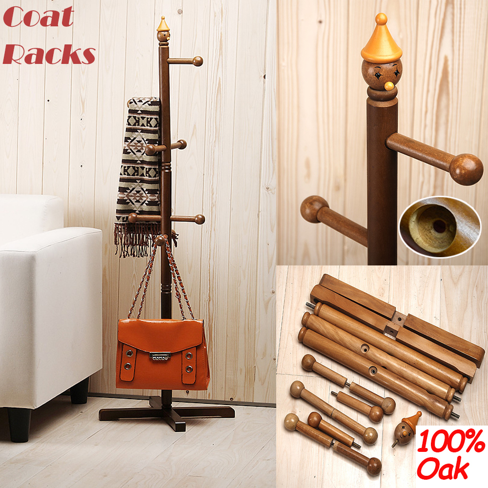 Wholesale Hot 100 Oak Coat Racks Stand Childr Cute Cartoon